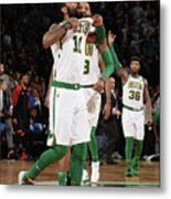 Kyrie Irving and Marcus Morris Metal Print