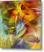 Lady And Her Shells Metal Print