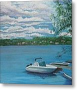 Lake Quinsigamond In Massachusetts Acrylic Metal Print