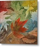 Leaves II Metal Print