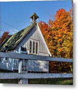 Little Church In the Woods Metal Print