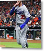 Logan Forsythe and Cody Bellinger Metal Print