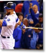 Lorenzo Cain, Alex Gordon, and Wei-yin Chen Metal Print