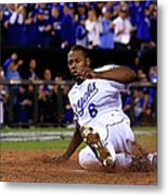 Lorenzo Cain and Billy Butler Metal Print