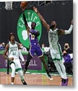 Los Angeles Lakers v Boston Celtics Metal Print