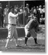 Lou Gehrig and Babe Ruth Metal Print