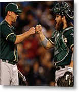 Luke Gregerson and Derek Norris Metal Print