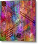 Magnetic Abstraction Metal Print