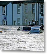 Major Incident Declared As Storm Desmond Wreaks Havoc In Cumbria Metal Print
