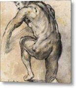 Male nude drawing Metal Print