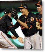 Manny Machado and Chris Davis Metal Print