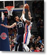 Marc Gasol and Andre Drummond Metal Print