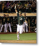 Mark Canha and Billy Butler Metal Print