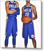 Markelle Fultz and Ben Simmons Metal Print