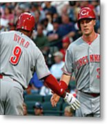 Marlon Byrd, Brandon Phillips, And Jay Bruce Metal Print