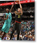 Marvin Williams and Mike Muscala Metal Print
