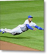 Matt Wieters and Alcides Escobar Metal Print
