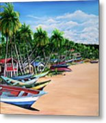 Mayaro Fishing Village Metal Print