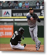 Melky Cabrera and Jason Kipnis Metal Print