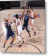 Memphis Grizzlies v Miami Heat Metal Print