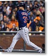 Michael Bourn and Nick Swisher Metal Print
