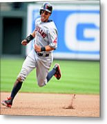 Michael Brantley And Lonnie Chisenhall Metal Print
