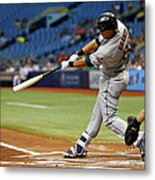 Michael Brantley, Rene Rivera, and Jason Kipnis Metal Print
