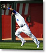 Michael Conforto and Alex Gordon Metal Print
