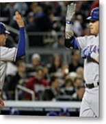 Michael Young and Josh Hamilton Metal Print
