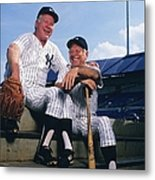 Mickey Mantle and Whitey Ford Metal Print