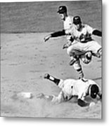 Mickey Mantle and Yogi Berra Metal Print