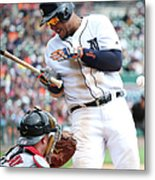 Miguel Cabrera And Clay Buchholz Metal Print