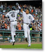 Miguel Cabrera and Victor Martinez Metal Print