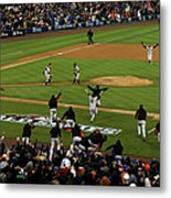 Miguel Cabrera, Sergio Romo, And Buster Posey Metal Print
