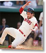 Mike Aviles And Jason Kipnis Metal Print