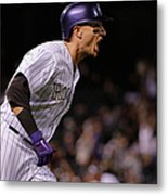 Mike Bolsinger and Troy Tulowitzki Metal Print