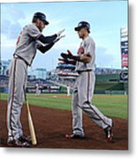 Mike Foltynewicz And Jace Peterson Metal Print