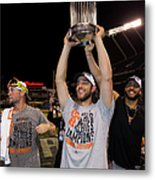 Mike Morse, Ryan Vogelsong, And Madison Bumgarner Metal Print