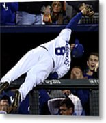Mike Moustakas and Adam Jones Metal Print