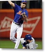 Mike Moustakas And Daniel Murphy Metal Print