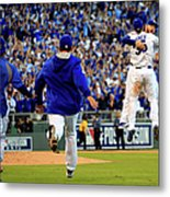 Mike Moustakas and Eric Hosmer Metal Print