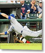 Mike Moustakas and Lonnie Chisenhall Metal Print