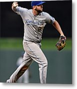 Mike Moustakas and Trevor Plouffe Metal Print