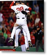 Mike Napoli and Grady Sizemore Metal Print