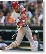 Mike Trout and Hank Conger Metal Print