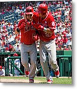Mike Trout and Kole Calhoun Metal Print
