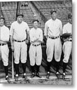 Miller Huggins and Babe Ruth Metal Print