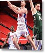 Milwaukee Bucks v Detroit Pistons Metal Print