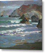 Morning Fog Shark Harbor - Catalina Island Metal Print