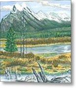 Mount Rundle Canadian Rockies Metal Print